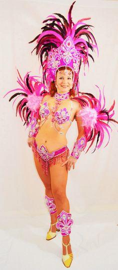 Carnaval brésilien rose/argent Rio SAMBA danse fille