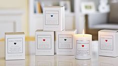 Evocative scented candles made with coconut oil and paired with a unique poem for the perfect gift.