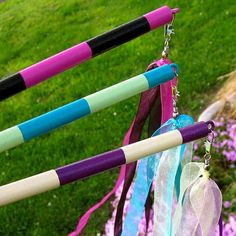 Fairy Maypole Ribbon Wand I like the hardware they used so the ribbon will move freely Fun Crafts, Crafts For Kids, Ribbon Wands, Operation Christmas Child, Girly Gifts, Sabbats, Beltane, Summer Solstice, Praise And Worship