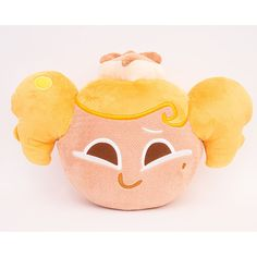 Moblie Game Cookie Run Character Face Pillow Cushion 34cm 13in Cheese Cake  #Cookierun