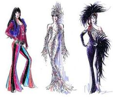 Cher stage costumes.