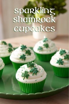 St, Patrick's Day Shamrock Cupcakes