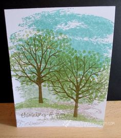 Stamp & Scrap with Frenchie: Thick card Stock, Sheltering Tree, Watercolor Wash