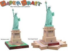 Landmark - Statue of Liberty Paper Model