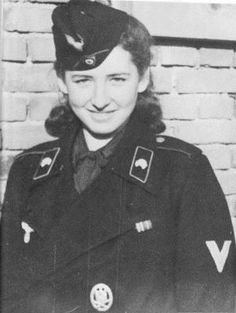 A unknown female wearing a panzer uniform