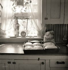 "August 1939. ""A corner of the T.P. Schrock kitchen in their new home. Yakima Valley, Wash."""