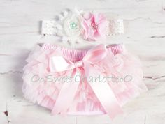 Light Pink TuTu Ruffle Diaper Cover And by OoSweetCharlotteoO