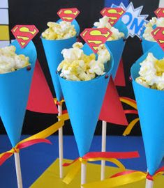 Sweeten Your Day Events: June 2012 Superman Party, Superman Birthday, Boy Birthday, Superhero Treats, Superhero Party Decorations, Girl Superhero Party, Birthday Treats, 6th Birthday Parties, Little Presents