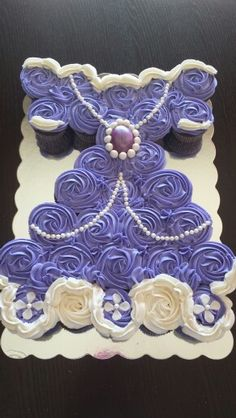 Sofia the First cupcake cake. Buttercup creations by Irina Bostick
