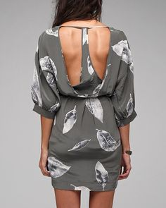 Silk Racer Feather Dress. I want this!!!