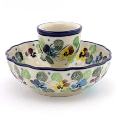 Blooming pansies pattern by Polish pottery from slavicapottery.com So cute :)