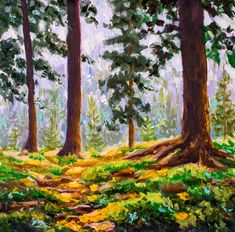 Buy painting - original painting for sale by Valery Rybakow Forest Landscape, City Landscape, Landscape Paintings, Bright Paintings, Buy Paintings, Oil Painting Flowers, Artist Painting, Original Paintings For Sale, Painting Wallpaper