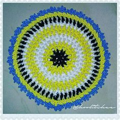 Crochet - Puffs on Parade Mandala by Ms. Sandra E. @mobiusgirl I use 3ply mercerized cotton and IMIA size 9 hook for this mandala. It only yields around 7.5 inches in diameter. I just love small things!  But of course it could be made as big a