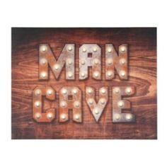 Make your man cave official with this simply stated wall hanging. Read More On VintageAndKind.com