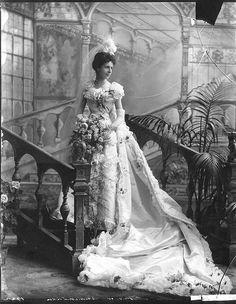 +~+~ Antique Photograph ~+~+    Baroness Christine von Linden on her wedding day, May 13, 1898.
