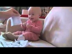 Please subscribe to my channel  Connect with me on Twitter to:  http://twitter.com/lawrencebland  8-month-old Micah (a boy) laughing hysterically while at-home daddy rips up a job rejection letter.    This is so cute, a little baby laughing hysterically make you smile and laugh at the beauty and innocense of a little child.  #lawsaid #funny #humor