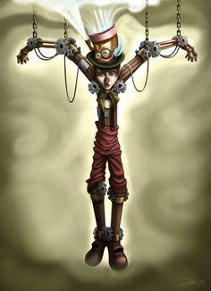 Steam Punk Pinocchio by Tommy Bradnam, via Behance
