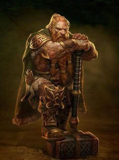 Kings of the Realm viking character concept art armory hammer dwarf rpg fantasy [by Denman Rooke] Fantasy Warrior, Fantasy Dwarf, Fantasy Races, Fantasy Rpg, Medieval Fantasy, Fantasy Art Men, Final Fantasy, Fantasy Artwork, Fantasy Portraits