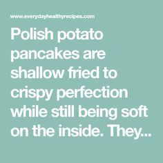 Polish potato pancakes are shallow fried to crispy perfection while still being soft on the inside. They make a delicious alternative to hash browns! Potato Recipes, Soup Recipes, Sauerkraut Soup Recipe, Polish Potato Pancakes, Sour Cream Uses, Stuffed Mushrooms, Stuffed Peppers, Frying Oil, Mushroom Sauce