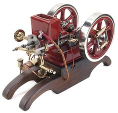 Scale Model of the Little Brother Hit and Miss Water Cooled Engine - Casting Kit Antique Tractors, Old Tractors, Live Steam Models, Stirling Engine, Casting Kit, Aircraft Engine, Motor Engine, Wooden Train, Luxury Sports Cars