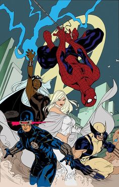 SPIDER-MAN AND THE X-MEN by Terry Dodson