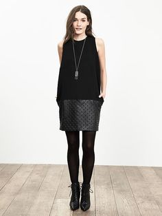 BR Monogram Faux-Leather Cocoon Dress Product Image