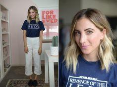 Tuesday: Vintage Shirt, Club Monaco Pants (similar here), Edun Loafers (similar here)