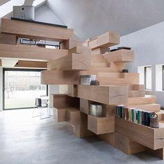 "surfacetheory: ""Functional Timber work space! #flooring #wood #woodwork…"