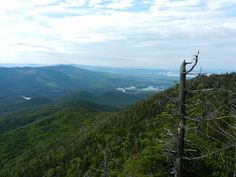 The view of Elk Lake from Allen Mountain in New York's Adirondack High Peaks.