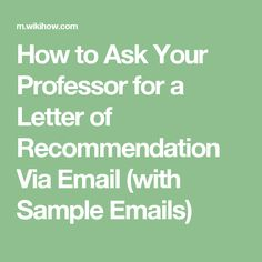 how to ask for a letter of recommendation email