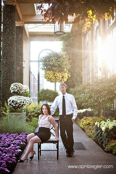 Engagment Photos at the infamous Longwood Gardens