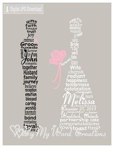 Wedding Couple Art Wedding Word Art Wedding Gift