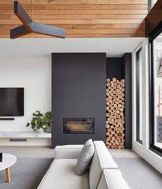 Modern home design Decoration Design, Decor Interior Design, Interior Decorating, Decorating Tips, Fireplace Doors, Fireplace Design, Fireplace Mantel, Fireplace Ideas, Bloomfield Homes
