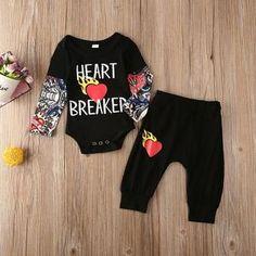 Wild Hearts Cant Broken Newborn Baby Sleeveless Jumpsuit Romper