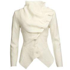 GROA Women's Boiled Wool Winter Jacket - Winter White: Image 1