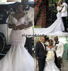a16953e2ce3 Mermaid Cathedral Train Wedding Dresses 2019 Luxury Lace Detail Off  Shoulder African Nigeria Garden Church Plus Size Wedding Gown
