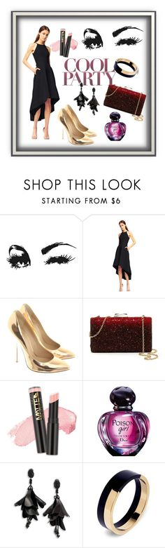 """Party time"" by gon4arovaalena ❤ liked on Polyvore featuring Aidan Mattox, Giuseppe Zanotti, Natasha, L.A. Girl, Oscar de la Renta and Marni"
