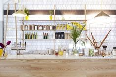 The modern plantlife at Superette in Cape Town.   31 Coffeeshops And Cafés You Wish You Lived In