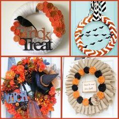 Halloween: Halloween Wreaths and Door Hangers