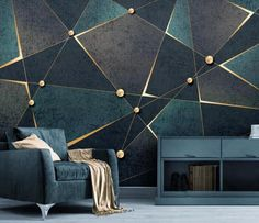Custom Photo Wallpaper Modern Geometric Marble Wall Murals Living Room Bedroom Backdrop Wall Papers For Walls 3 D Home Decor - AliExpress 3d Wall Murals, Bedroom Murals, 3d Wall Decor, Wall Decals, Wall Sticker, Art Decor, Geometric Wall Paint, Geometric Lines, Geometric Patterns