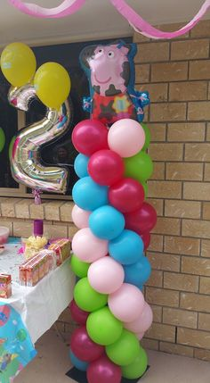 Home - Brisbane Balloons Pig Birthday, Baby Girl Birthday, 3rd Birthday Parties, Balloon Decorations, Birthday Party Decorations, Peppa Pig Balloons, Party Themes For Boys, Pig Party, Balloon Columns