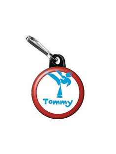 Karate Personalized Mini Zipper Pull (each) - Zipper Pulls & Party Supplies