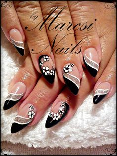 25 Elegant White Nail Art Ideas that You will Love for Winter - Wass Sell White Nail Art, Pink Nail Art, Cute Acrylic Nails, Pink Nails, My Nails, Nail Designs Pictures, Nail Art Designs, Fancy Nails, Cute Nails