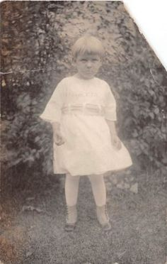 Photograph Snapshot Vintage Black & White: Girl Frown Dress Mad 1920's
