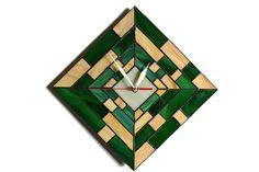 Moderno reloj de pared de madera 3d diseño por ZangerGlass en Etsy