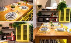Marcelo Rosenbaum mistura cores e texturas na decoração da cozinha