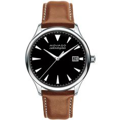 Men's Movado Heritage Series Calendoplan Watch ($595) ❤ liked on Polyvore featuring men's fashion, men's jewelry, men's watches, men's blue dial watches, mens stainless steel watches, movado mens watches, mens watches jewelry and mens watches