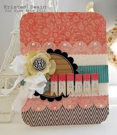Don't you love this card made by @Kristen Swain using our #GlueArts U Cut It Foam!