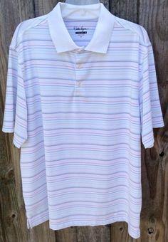 Walter Hagen Polo Golf Shirt, XL Striped Mens Hydro-Dri #WalterHagen #PoloRugby