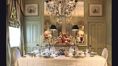 Dining room designed by Paolo Moschino and Philip Vergeylen